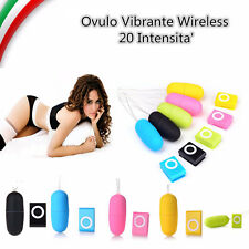 Ovulo Vibrante Ovetto 20 Intensità Uovo Vaginale Anale Wireless Telecomando Sex