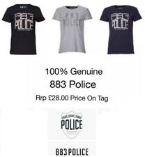 Police 883 T-Shirt M L & XL Black / Navy / Grey RRP £28 Holiday Parties Gym New