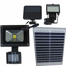 FARO FOCO LED CON PANEL SOLAR 10 W 15 20 30W 50 WATTS Y SENSOR DE MOVIMIENTO