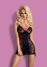"Sexy ღ Lingerie ""Obsessive"" Amarone chemise & thong , Nightwear  S/M, L/XL, XXL"