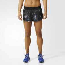 adidas Women's Climalite® Black Reversible Running Gym Fitness Shorts AP8449