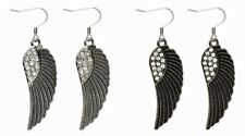 Antique Style Angel Wings Earrings NEW YOU CHOOSE Bronze or Silver