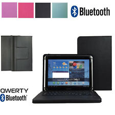 """Premium 10.1"""" QWERTY Bluetooth Keyboard Case Cover For Tesco Terra Pad 1004 10"""