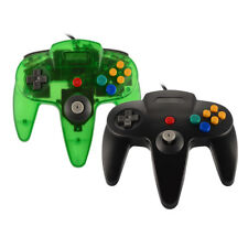 Wired Gamepad Video Game Controller Black/Green for Nintendo 64 N64 Game System