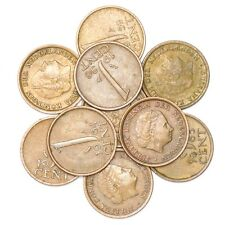LOT 10 NETHERLANDS COINS: 1 CENT - 5 GLUDEN DUTCH PRE-EURO COINS 1950-2001