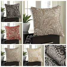"""Jacquard Decorative Traditional & Classy Paisley Cushion Covers or Filled 18x18"""""""