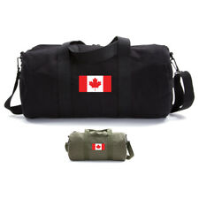Canadian Flag Army Sport Heavyweight Canvas Duffel Bag