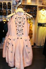BNWT H&M CONSCIOUS EXCLUSIVE Collection Beaded Pink Embroidery Rhinestones Dress