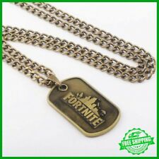 Fortnite victory royale PS4 XBOX PC  Game Bronze dog tag Halskette