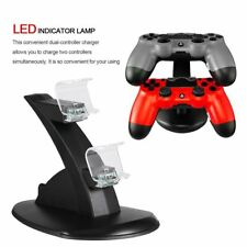Led Dual Controller Charger Dock Station Stand Charging For PS4 Playstation SI
