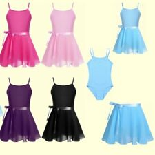 Baby Girls Ballet Dress Leotard+Tutu Wrap Skirt Skate Kids Gym Dancewear Outfits