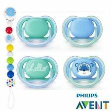 Philips Avent ULTRA SUAVE AIR CHUPETE 6-18 incl. 2 cajas + MADERA CADENA CHUPETE