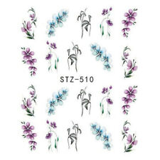 3D Nail Art DIY Transfer Stickers Flower Decal Manicure Decoration Tips uk
