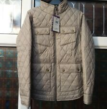 BNWT Womens Barbour Abbey Liberty Diamond Quilted Jacket Taupe UK10 rrp£169