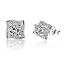 925 Silver Stud Earrings With Cubic Zircon - NEW.