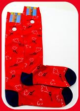 CALZE GALLO UOMO DONNA LOVE AMORE HEART SOCKS MAN SOCKEN CHAUSSETTES COTTON RED