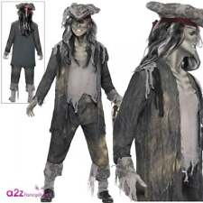 Nave Fantasma Ghoul Costume Uomo Carnevale Halloween Zombie Pirate Fancy Dress