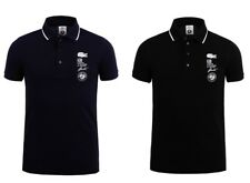"""Lacoste Sports """"Roland Garros Polo"""" - Navy Blue & Black LIMITED EDITION - S M L"""