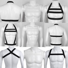 Sexy Mens Nylon Body Chest Harness Shoulder Muscle Strap Belt Clubwear Costume