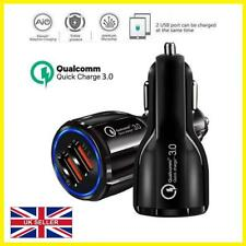 Ricarica Rapida 3.0 Caricabatteria da auto 2 PORTE USB QUALCOMM QC DI ADAPTER UK