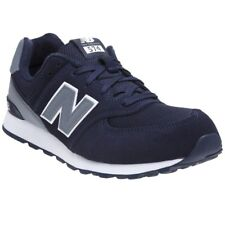 New Boys New Balance Blue 574 Suede Trainers Retro Lace Up