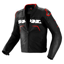 Spidi Evo Rider Black / Red Moto Motorcycle Motorbike Leather Jacket | All Sizes