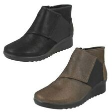 Mujer Clarks cloudsteppers Cremallera Botines Label - caddell Rush