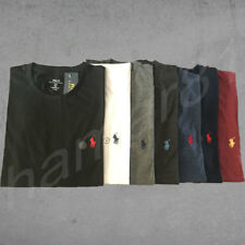 Ralph Lauren Polo T-shirt COTTON Men's Crew Neck Short Sleeve Custom Fit  *NEW*