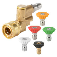Quick Connect Pivot Coupler + 5PCS 3.0/4.0 GPM Nozzle Tips for Pressure Washer