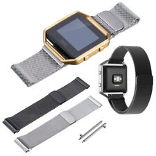 Stainless Steel Metal Milanese Magnetic Watch Strap Loop Band For Fitbit Blaze