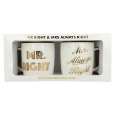 Lesser & Pavey Mr Right & Mrs Always Right Set Tazze Mug ETICHETTA lp33637