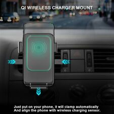 Qi Wireless Car Charger 2-in-1 Mount Holder Quick Charging Gravity Charger