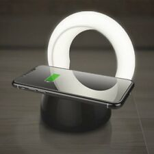 10W Qi Wireless Charger Holder LED Desk Night Lamp Light Fast Charging Dock CR