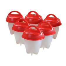 Egglettes Egg Cooker Hard Boiled Eggs without the Shell 6 Egg Cups Hot T 7870