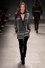 BNWT BALMAIN x H&M EXCLUSIVE Velvet Silk Embroidered Beads Pearls Blazer Jacket