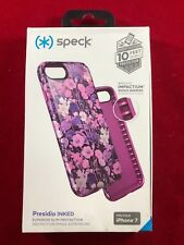 NEW Apple iPhone 7/8 OEM Speck Presidio Inked Case - Pink/Purple Metallic Flower