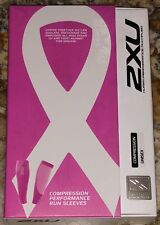 2XU Compression Performance Run Calf Sleeve Pair Hot Pink Running NEW Unisex L