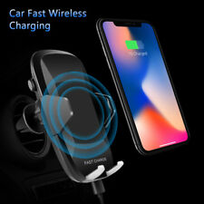 Qi Wireless Fast Charger Car Air Vent Mount Dashboard Holder For iPhone Samsung
