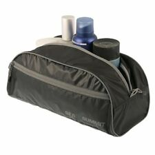 Sea To Summit Travelling Light Toiletry Travel Shower Bath Bag, Black x Gray