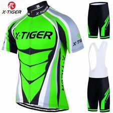 X-Tiger 2018 Cycling Jersey set Neon Green MTB Bike Clothes Summer Bicycle Cloth