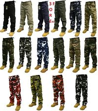 "CAMOUFLAGE COMBAT TROUSERS MULTI POCKET ARMY CARGO CAMO MILITARY  PANTS 28""-56"""