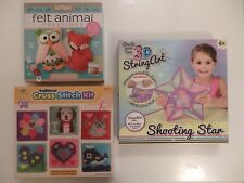 Felt Creations, Cross Stitch Kit or Create Your Own 3D String Art (Choice of 3)