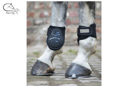 Waldhausen Horse Cob Fetlock Boots Protect Memory Foam Lined Black FREE DELIVERY