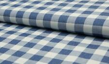 100% Cotton Denim Fabric Craft Material BIG CHECK - MID JEANS