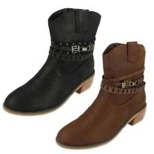 Mujer Down To Earth Vaquero Botines Label F5R0950 ~ N