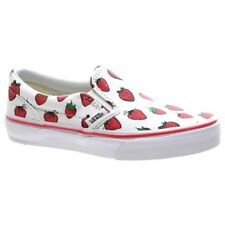 Vans Shoes. Vans Kids Shoes. Classic Slip On (Strawberries) True White Kids Shoe