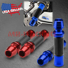 "Motorcycle Hand Grips Rubber 7/8"" Handle Bar For Honda Suzuki Kawasaki Yamaha 08"