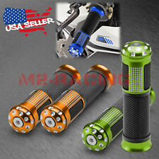 "Motorcycle Hand Grips Rubber 7/8"" Handle Bar For Honda Suzuki Kawasaki Yamaha 04"