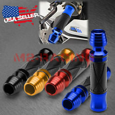 "Motorcycle Hand Grips Rubber 7/8"" Handle Bar For Honda Suzuki Kawasaki Yamaha 09"