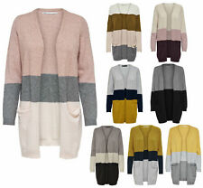 Donna Giacca Maglione Onlqueen lungo Cardigan Knt Noos Righe Oversize